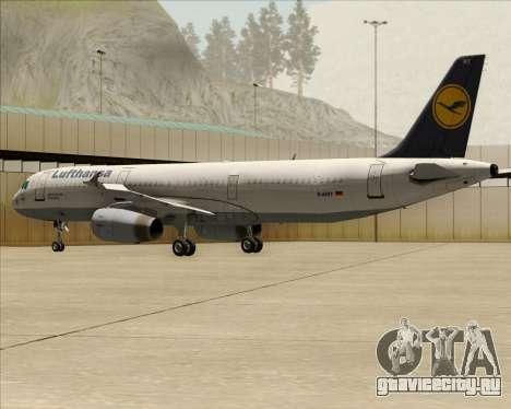 Airbus A321-200 Lufthansa для GTA San Andreas колёса