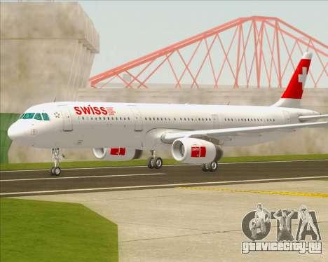 Airbus A321-200 Swiss International Air Lines для GTA San Andreas вид слева