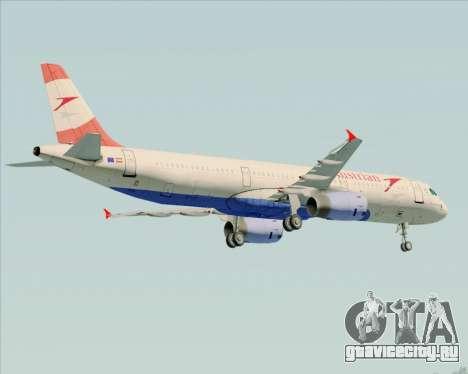 Airbus A321-200 Austrian Airlines для GTA San Andreas двигатель