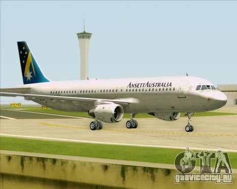 Airbus A320-200 Ansett Australia для GTA San Andreas вид слева