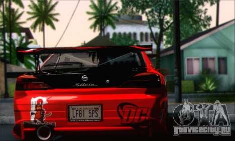 Nissan Silvia S15 Team Drift Monkey для GTA San Andreas вид слева