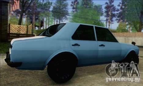 Vulcar Warrener V2 для GTA San Andreas вид слева