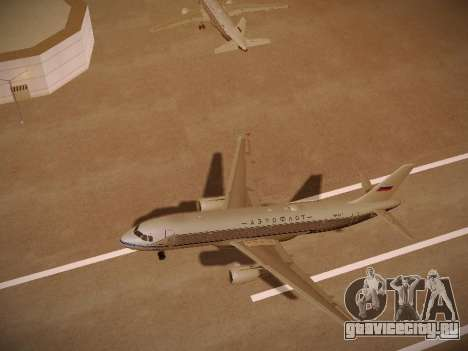 Airbus A320-214 Aeroflot Retrojet для GTA San Andreas вид сверху