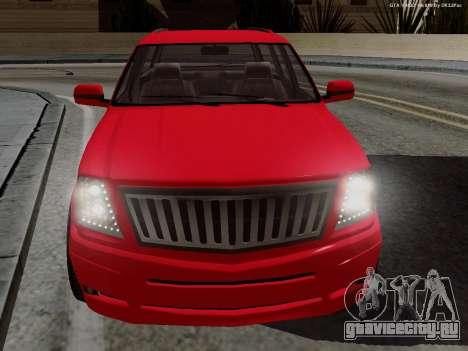 Albany Cavalcade для GTA San Andreas вид сзади слева