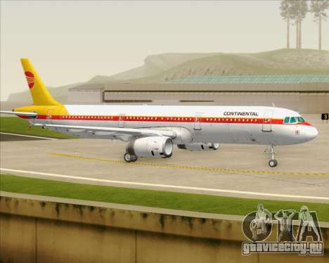 Airbus A321-200 Continental Airlines для GTA San Andreas вид сверху
