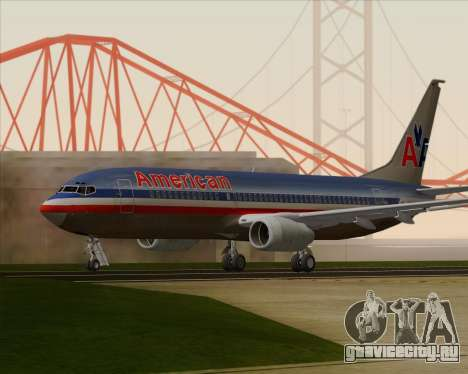 Boeing 737-800 American Airlines для GTA San Andreas вид справа