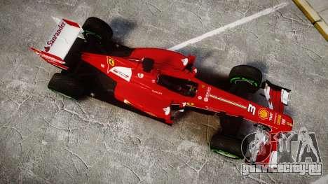 Ferrari F138 v2.0 [RIV] Alonso TIW для GTA 4 вид справа