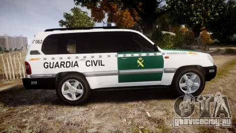 Toyota Land Cruiser Guardia Civil Cops [ELS] для GTA 4 вид слева