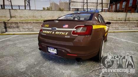 Ford Taurus Sheriff [ELS] Virginia для GTA 4 вид сзади слева