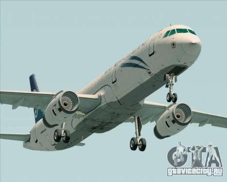 Airbus A321-200 Air New Zealand для GTA San Andreas вид изнутри