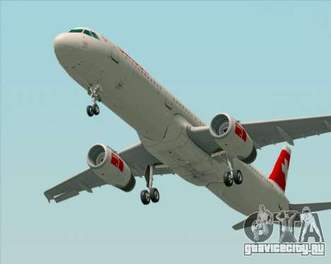 Airbus A321-200 Swiss International Air Lines для GTA San Andreas вид сзади слева