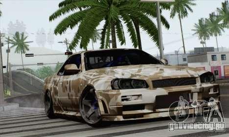 Nissan Skyline R34 для GTA San Andreas