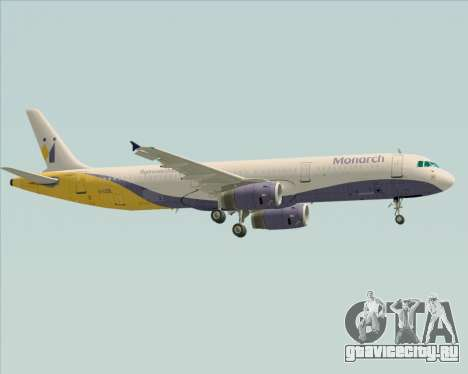 Airbus A321-200 Monarch Airlines для GTA San Andreas вид справа