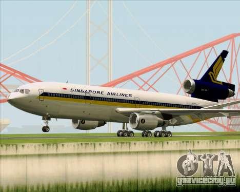McDonnell Douglas DC-10-30 Singapore Airlines для GTA San Andreas вид сзади