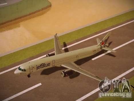 Airbus A321-232 jetBlue I love Blue York для GTA San Andreas салон