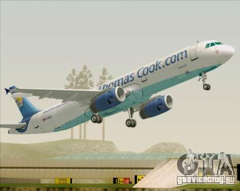 Airbus A321-200 Thomas Cook Airlines для GTA San Andreas колёса
