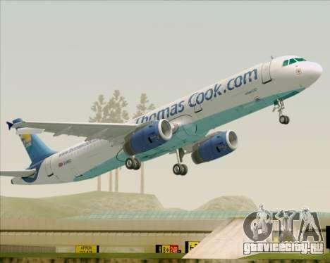 Airbus A321-200 Thomas Cook Airlines для GTA San Andreas колёса