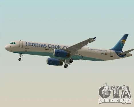 Airbus A321-200 Thomas Cook Airlines для GTA San Andreas вид сзади слева