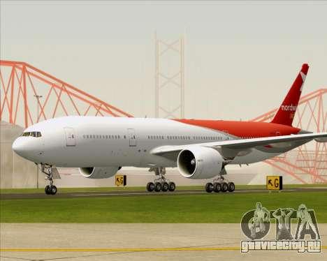 Boeing 777-21BER Nordwind Airlines для GTA San Andreas вид сзади слева