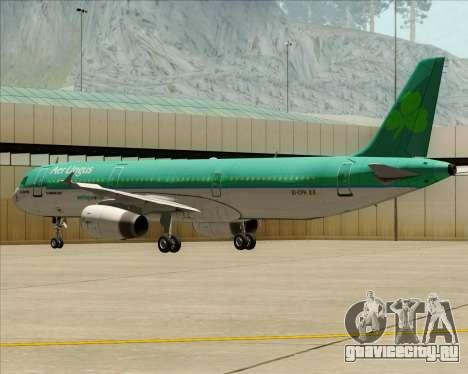 Airbus A321-200 Aer Lingus для GTA San Andreas вид сбоку