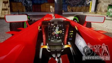 Ferrari F138 v2.0 [RIV] Alonso TIW для GTA 4 вид изнутри