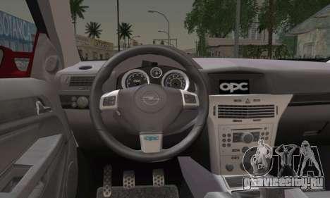 Opel Astra OPC для GTA San Andreas вид сзади слева