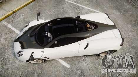 Pagani Huayra 2013 [RIV] Carbon для GTA 4 вид справа