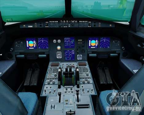 Airbus A321-200 United Airlines для GTA San Andreas салон
