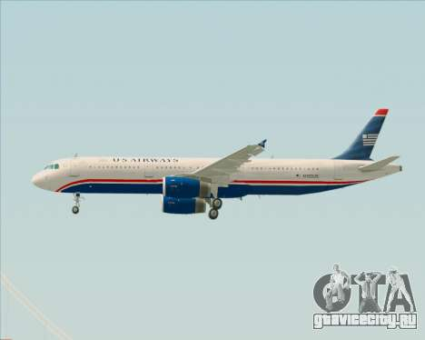 Airbus A321-200 US Airways для GTA San Andreas колёса