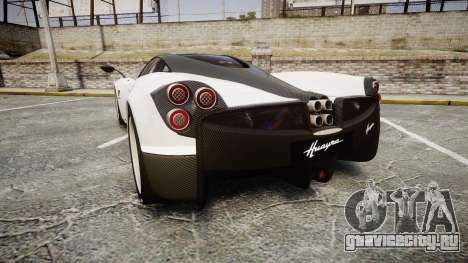 Pagani Huayra 2013 [RIV] Carbon для GTA 4 вид сзади слева