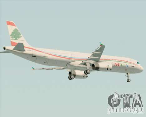 Airbus A321-200 Middle East Airlines (MEA) для GTA San Andreas вид снизу
