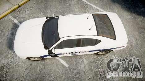 GTA V Bravado Buffalo Liberty Police [ELS] Slick для GTA 4 вид справа