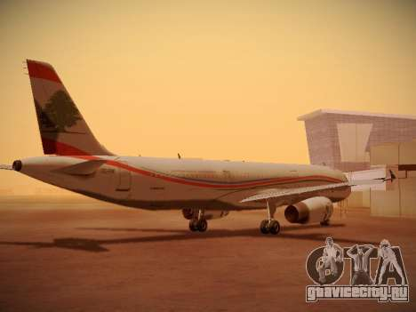 Airbus A321-232 Middle East Airlines для GTA San Andreas вид справа