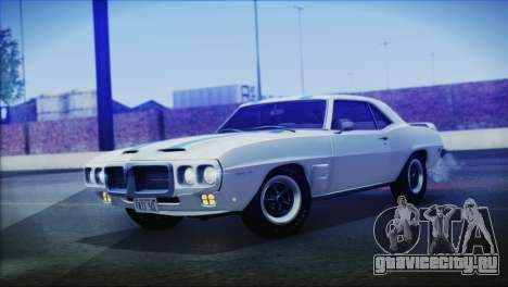 Pontiac Firebird Trans Am Coupe (2337) 1969 для GTA San Andreas вид сзади слева