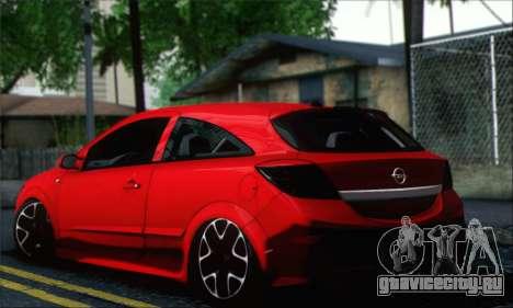 Opel Astra OPC для GTA San Andreas вид слева