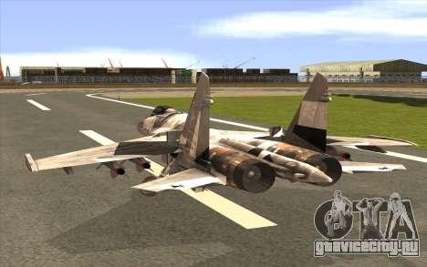Sukhoi SU-35 BF3 для GTA San Andreas вид слева