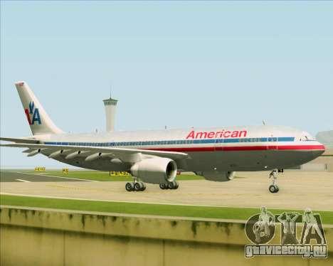 Airbus A300-600 American Airlines для GTA San Andreas вид изнутри