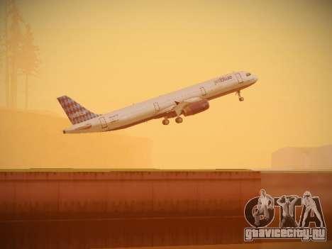 Airbus A321-232 jetBlue Airways для GTA San Andreas вид снизу