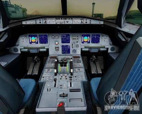 Airbus A321-200 Air New Zealand для GTA San Andreas салон