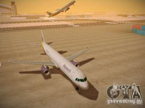 Airbus A321-232 Monarch Airlines для GTA San Andreas вид сзади