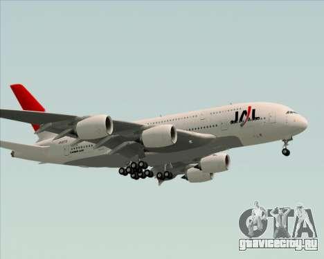 Airbus A380-800 Japan Airlines (JAL) для GTA San Andreas вид сбоку
