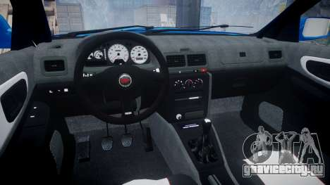 Subaru Impreza WRC 1998 World Rally v3.0 Green для GTA 4 вид сзади