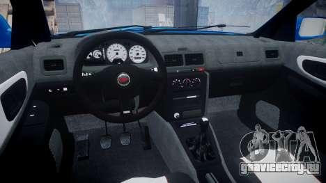 Subaru Impreza WRC 1998 World Rally v3.0 Green для GTA 4 вид сзади