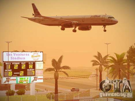Airbus A321-232 jetBlue Do-be-do-be-blue для GTA San Andreas вид снизу