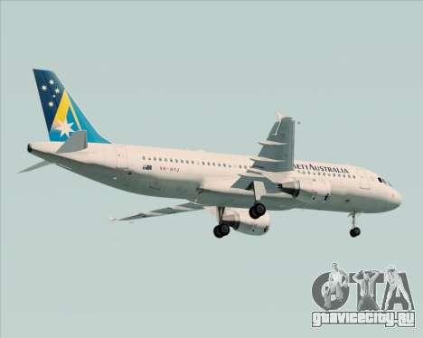 Airbus A320-200 Ansett Australia для GTA San Andreas вид сзади