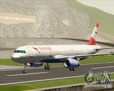 Airbus A321-200 Austrian Airlines для GTA San Andreas вид слева