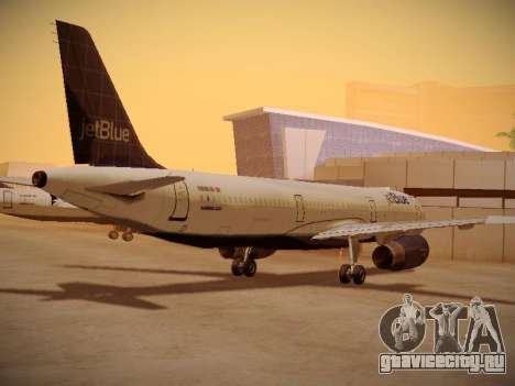 Airbus A321-232 jetBlue Batty Blue для GTA San Andreas вид сзади слева