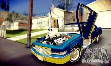 Cadillac Fleetwood 1993 Lowrider для GTA San Andreas вид сверху