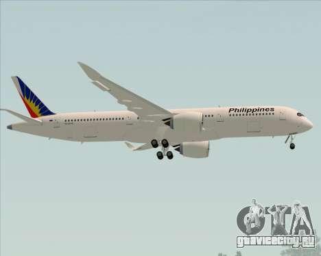 Airbus A350-900 Philippine Airlines для GTA San Andreas вид изнутри