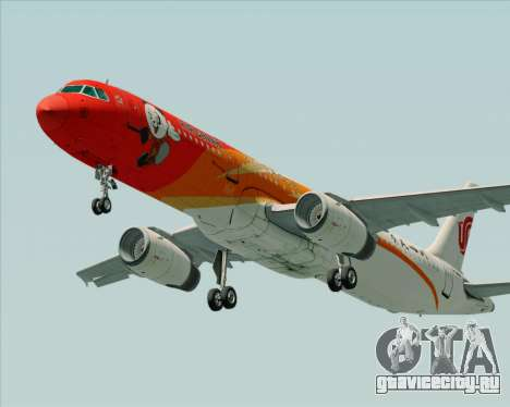 Airbus A321-200 Air China (Beautiful Sichuan) для GTA San Andreas вид слева